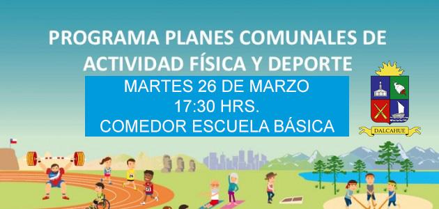 «1er Diálogo Participativo comunal de Act. Física y Deporte»