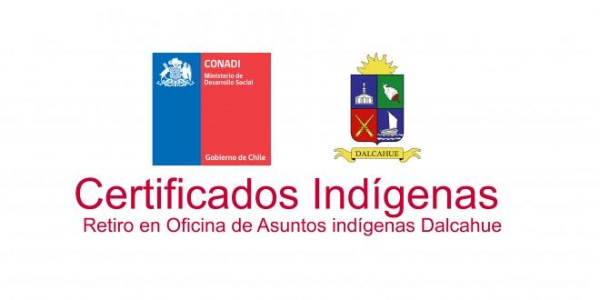 Nomina de Certificados de Acreditación Indígena.