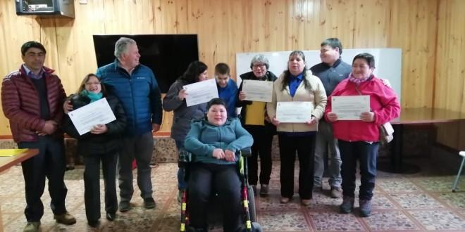 Cinco vecinos Beneficiados Programa FNDR y Fortalecimiento de las Personas con Discapacidad 2