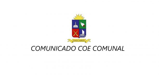 COMUNICADO COE COMUNAL  (COMITÉ OPERATIVO EMERGENCIAS)