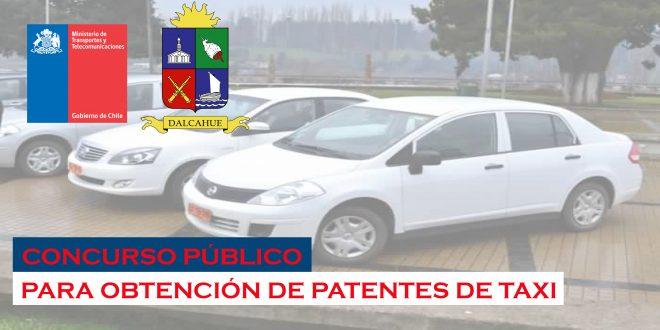CONCURSO PÚBLICO PARA OBTENCIÓN DE PATENTES DE TAXI