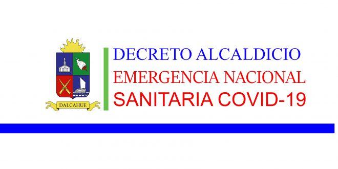 DECRETO ALCALDICIO EMERGENCIA NACIONAL SANITARIA PRODUCIDA POR COVID-19
