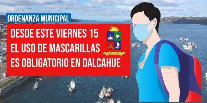 Uso de mascarilla será obligatorio en espacios públicos de Dalcahue.