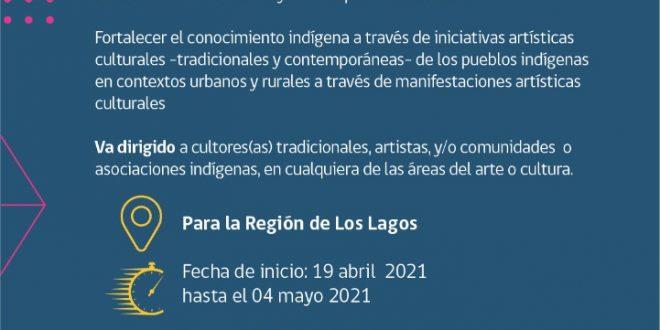 Concurso Público  ARTÍSTICOS CULTURAL   para la Región de Los Lagos .